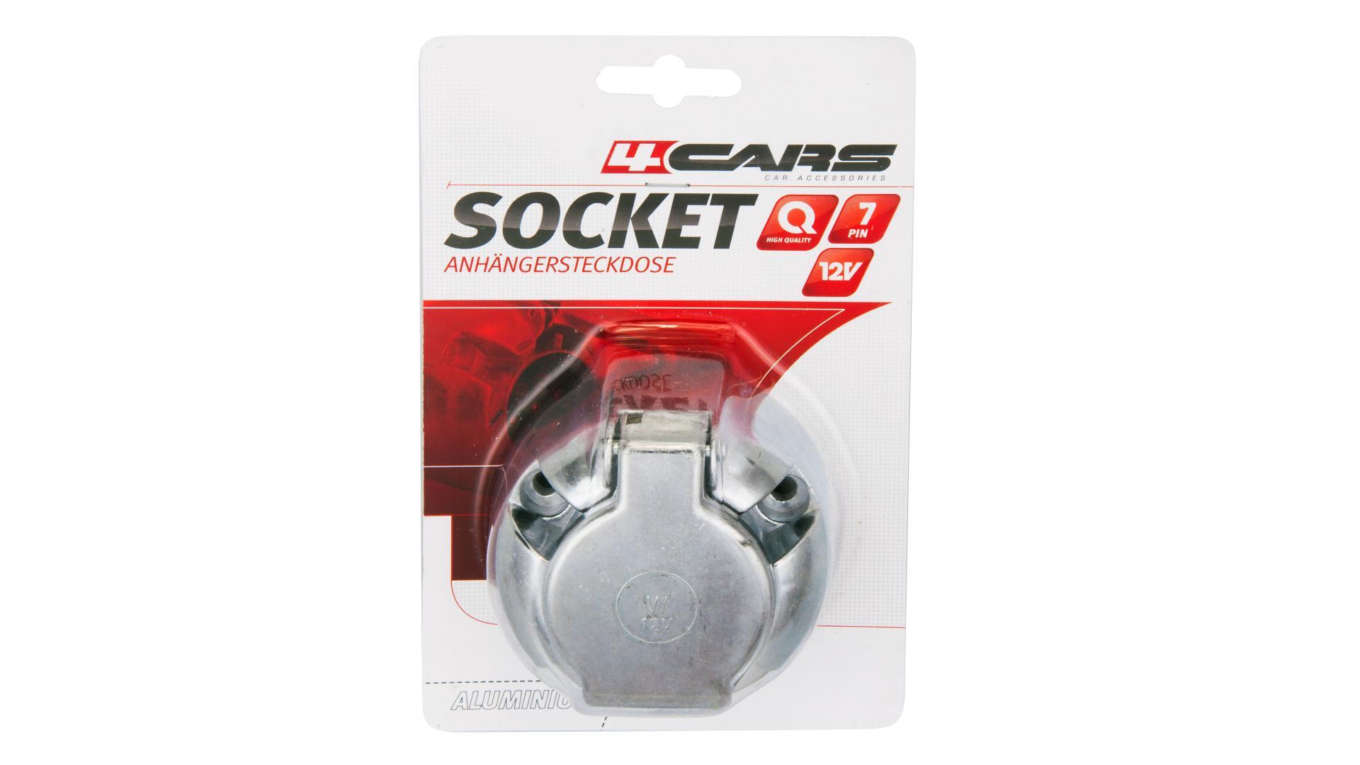 4CARS Zásuvka na přívěsný vozík hliníková 7 pin