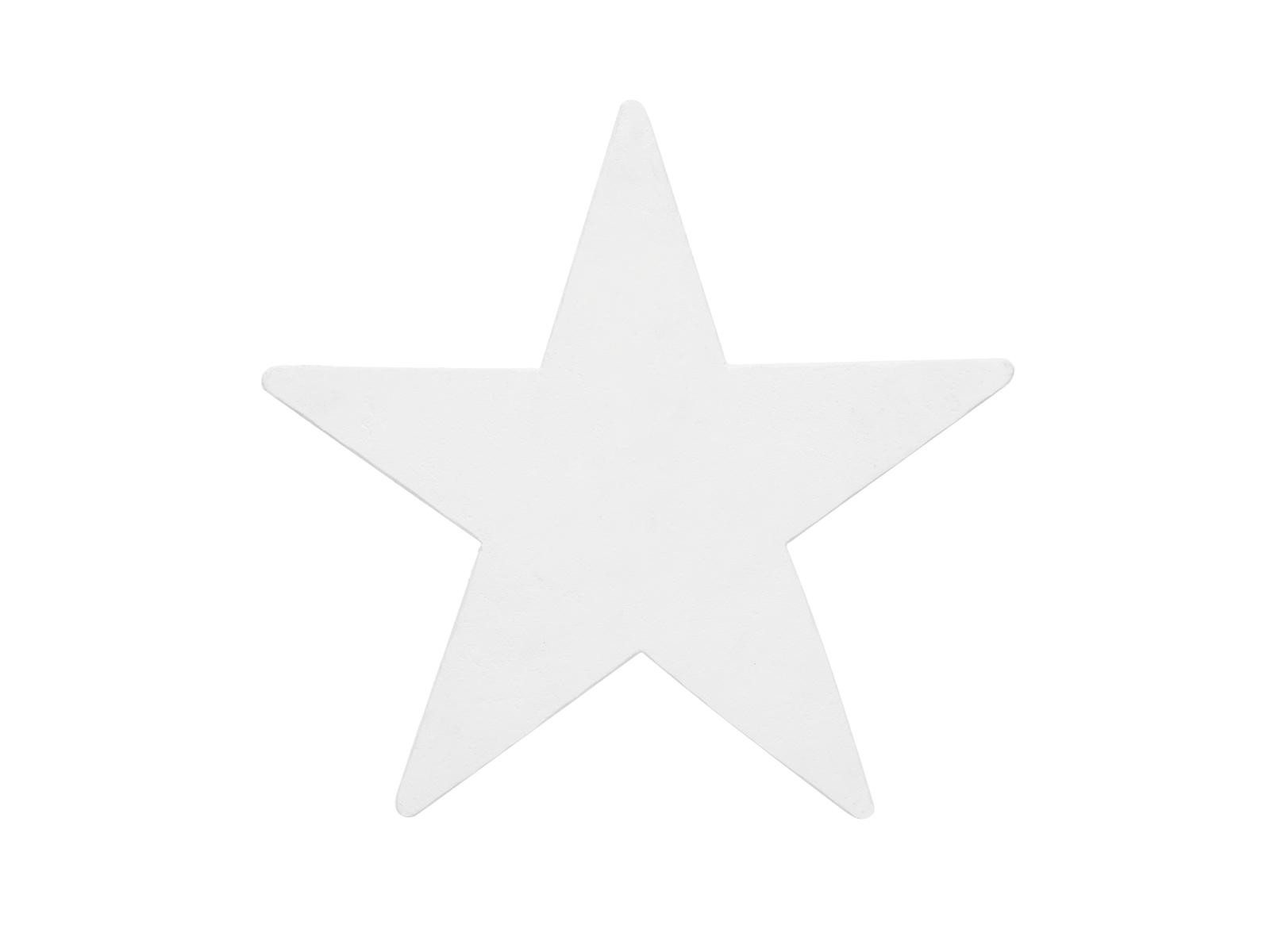 Kovová silueta hvězdy, bílá, 58cm