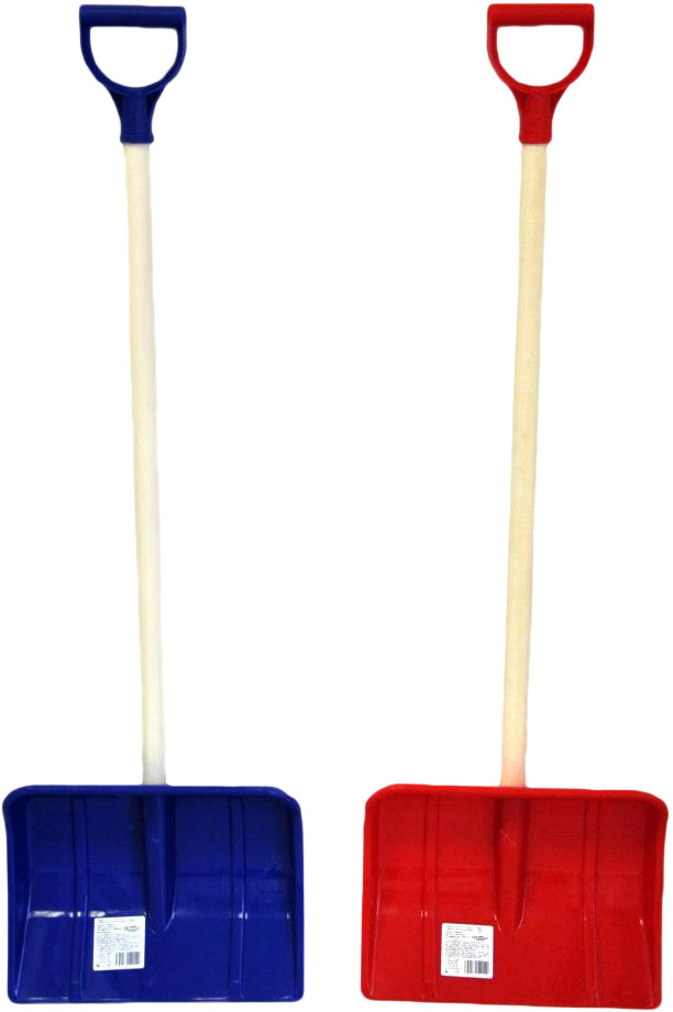 Lopata pro děti na sníh 87cm dřevěné hráblo plast/dřevo t-ručka - 2 barvy