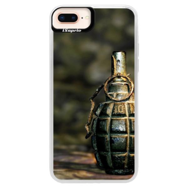 Neonové pouzdro Pink iSaprio - Grenade - iPhone 8 Plus