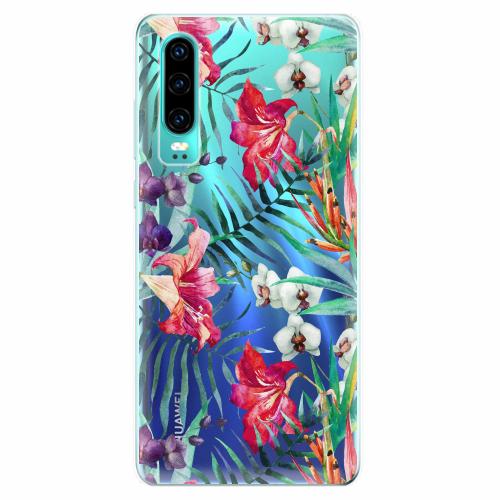Silikonové pouzdro iSaprio - Flower Pattern 03 - Huawei P30