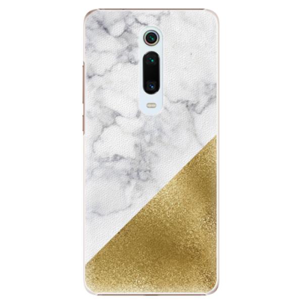 Plastové pouzdro iSaprio - Gold and WH Marble - Xiaomi Mi 9T Pro