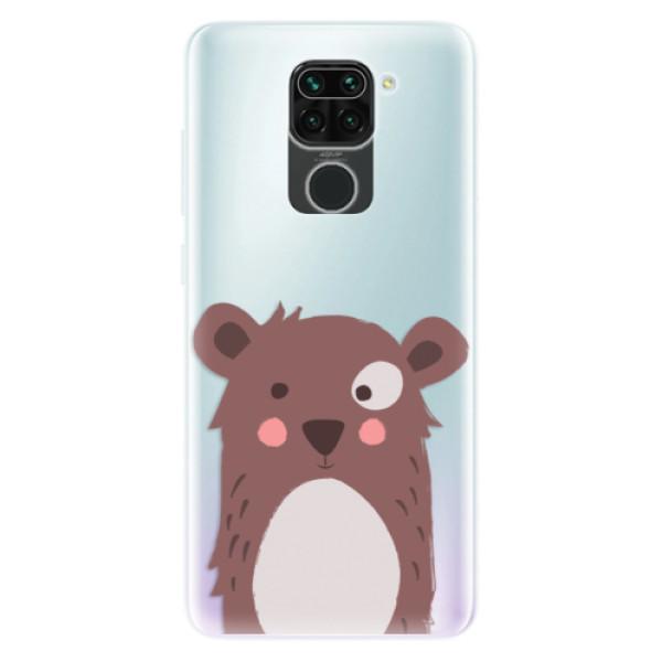 Odolné silikonové pouzdro iSaprio - Brown Bear - Xiaomi Redmi Note 9