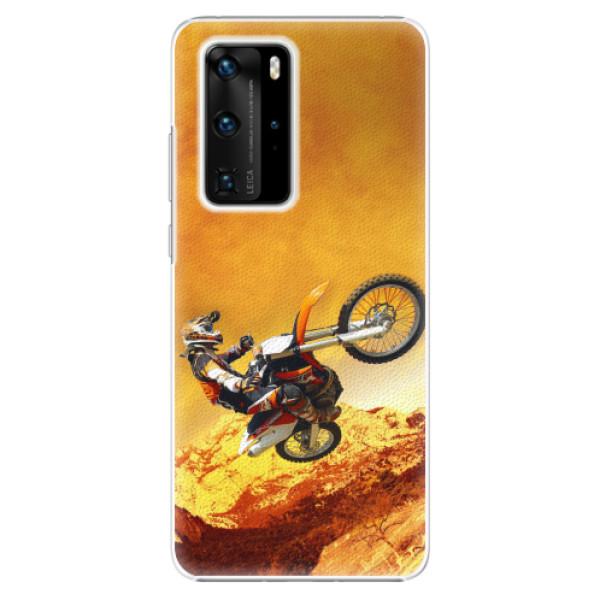 Plastové pouzdro iSaprio - Motocross - Huawei P40 Pro