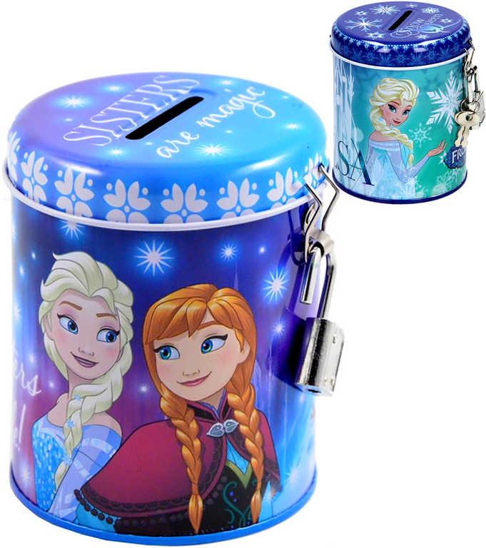 Pokladnička dětská Frozen (Ledové Království) se zámkem a 2 klíčky 2 druhy kov