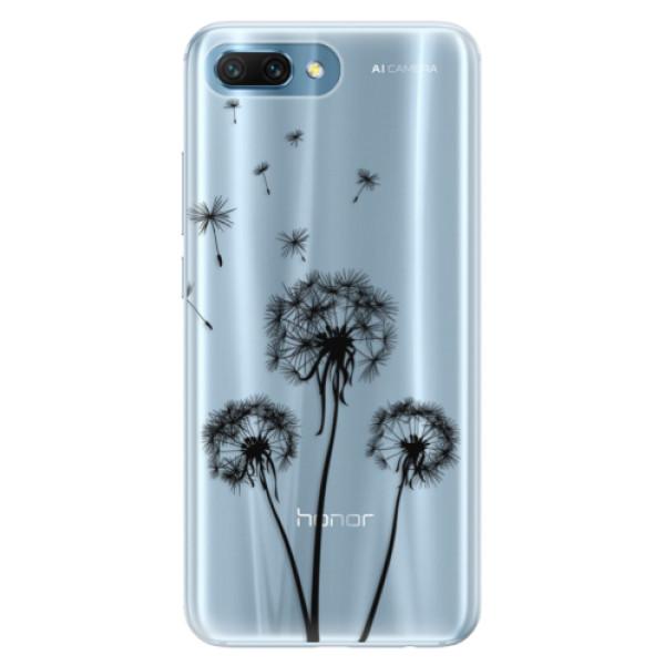 Silikonové pouzdro iSaprio - Three Dandelions - black - Huawei Honor 10
