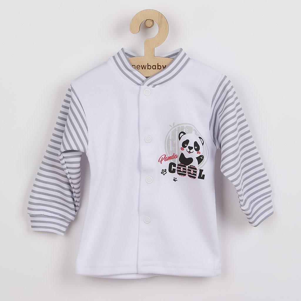 Kojenecký kabátek New Baby Panda - šedá/62 (3-6m)