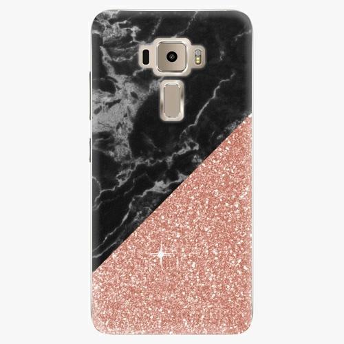 Plastový kryt iSaprio - Rose and Black Marble - Asus ZenFone 3 ZE520KL