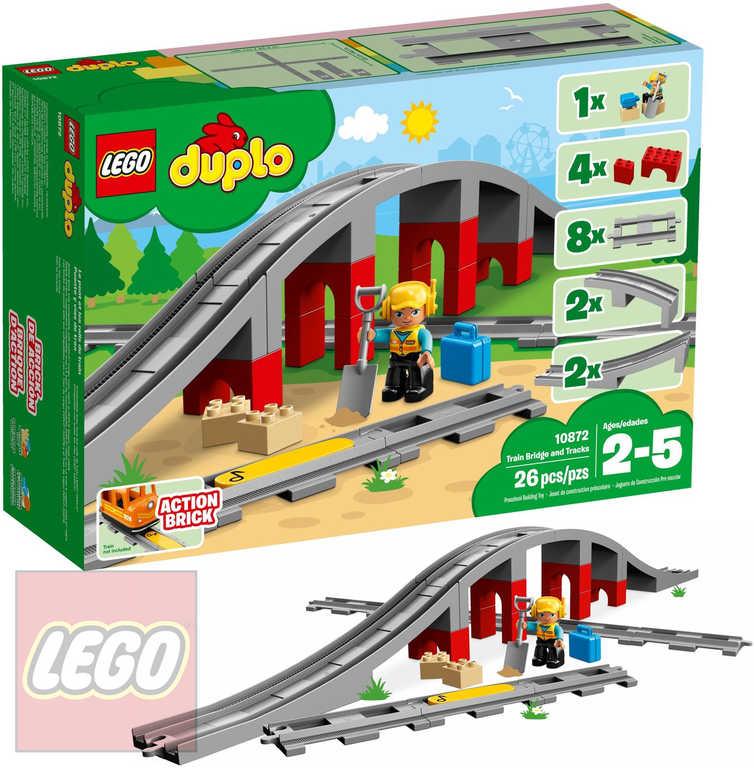 LEGO DUPLO Doplňky k vláčku most a koleje 10872 STAVEBNICE
