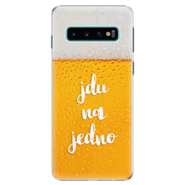 Plastové pouzdro iSaprio - Jdu na jedno - Samsung Galaxy S10