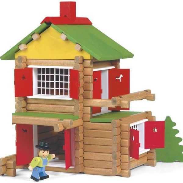 Jeujura Dřevěná stavebnice 135 dílů