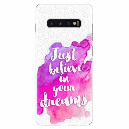 Plastový kryt iSaprio - Believe - Samsung Galaxy S10+