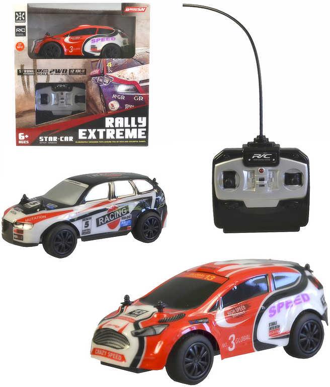 RC Auto závodní rally 14cm na vysílačku 27MHz na baterie 2 druhy