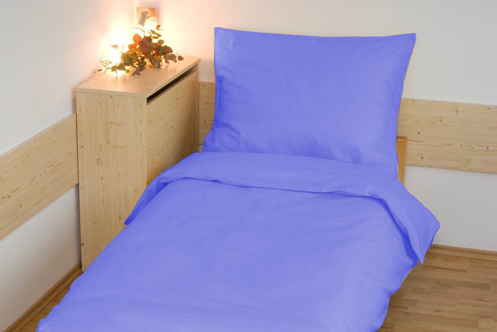 Prodloužené povlečení bavlna UNI 140x220, 70x90cm Modrá, Výběr zapínání: - nitěný knoflík
