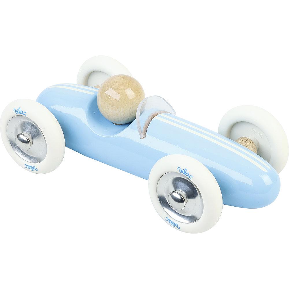 Vilac Dřevěné auto velké Grand prix vintage světle modré