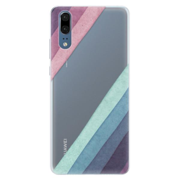 Silikonové pouzdro iSaprio - Glitter Stripes 01 - Huawei P20
