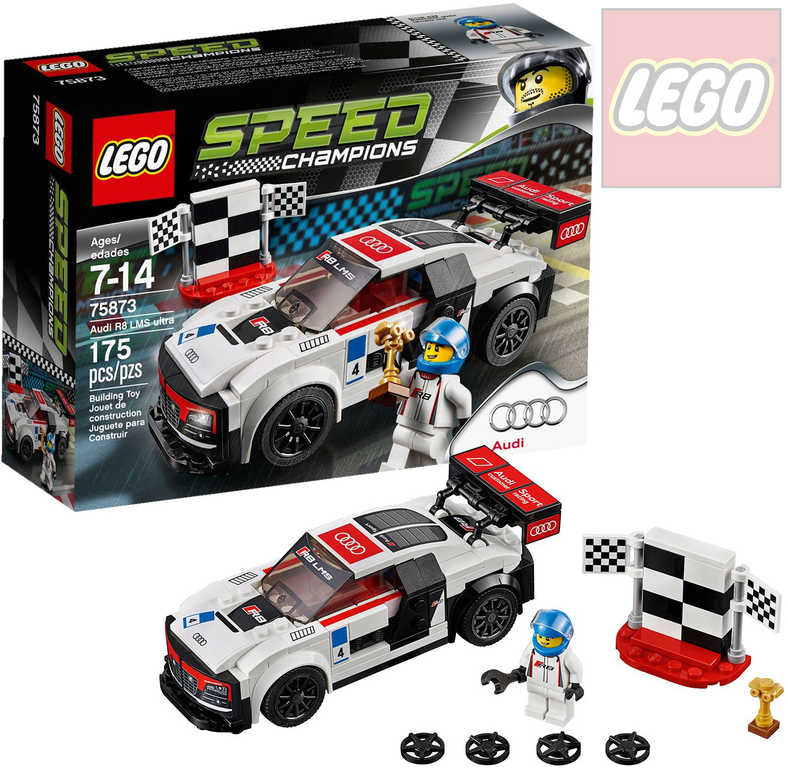 LEGO SPEED Champions Audi R8 LMS ultra 75873 STAVEBNICE