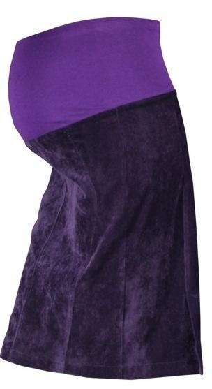 Gregx Těhotenská sukně MALO - fialová - M (38)
