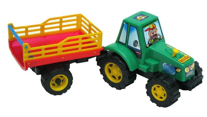 PL Traktor plastový s vlečkou SIANO 40cm