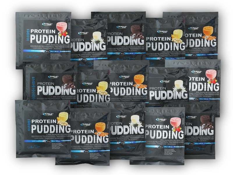 Protein pudding box 15 x 50g - mix-jahoda