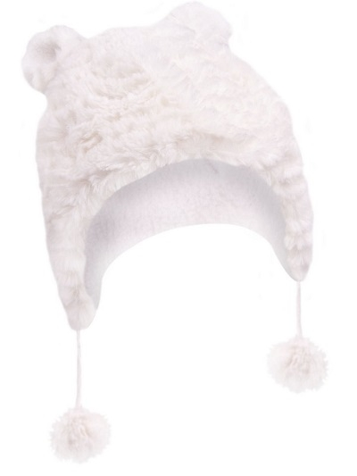 Zimní čepička YO ! na zavazování Ombre - krémová - 38/40 čepičky obvod