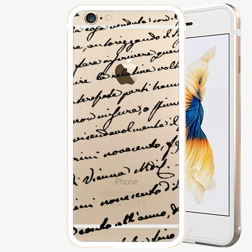 Plastový kryt iSaprio - Handwiting 01 - black - iPhone 6 Plus/6S Plus - Gold