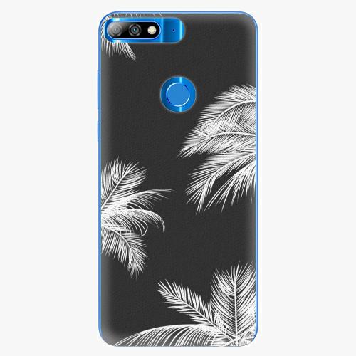 Plastový kryt iSaprio - White Palm - Huawei Y7 Prime 2018