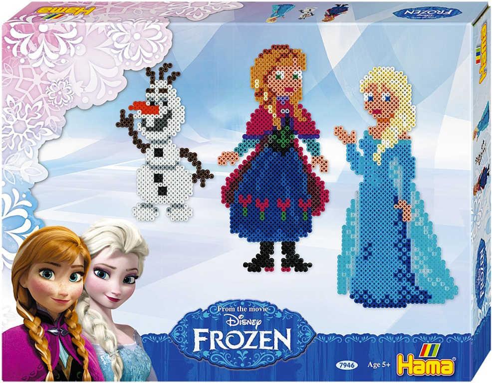 Korálky zažehlovací Frozen (Ledové Království) set 4000 ks + 2 podložky