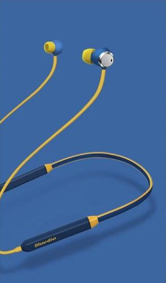 Bluetooth sportovní sluchátka - Modro-žlutá