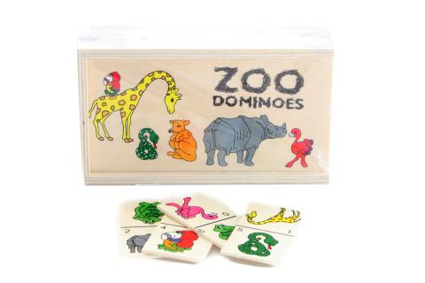 Dřevěné domino zoo