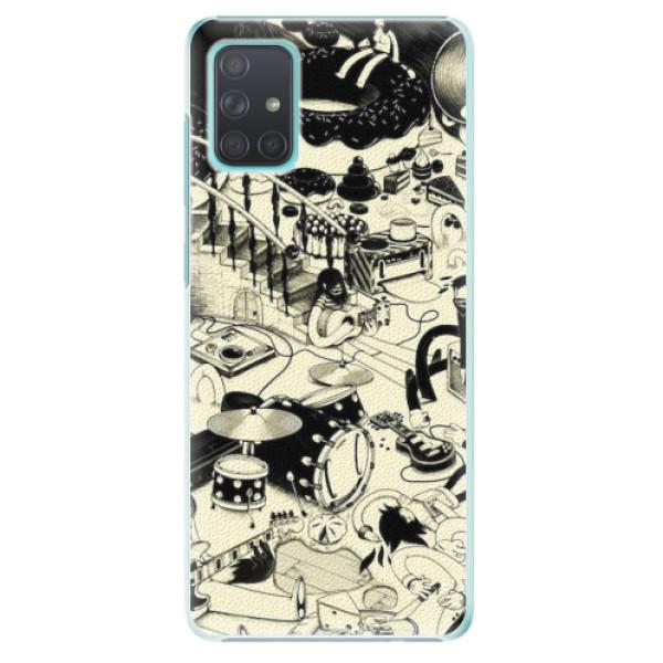Plastové pouzdro iSaprio - Underground - Samsung Galaxy A71