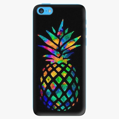 Plastový kryt iSaprio - Rainbow Pineapple - iPhone 5C