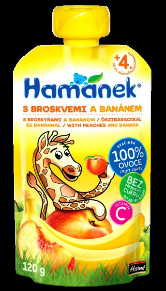 Kojenecká výživa Svačinka s broskvemi a banánem 120g