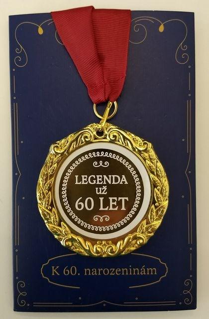 Přání s medailí - 60 let