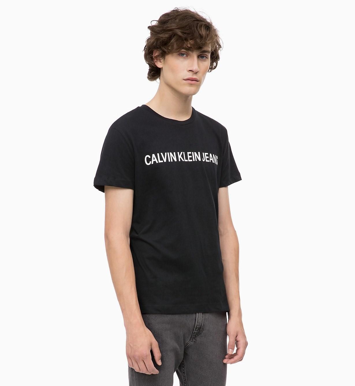 Pánské tričko OU33 černá - Calvin Klein
