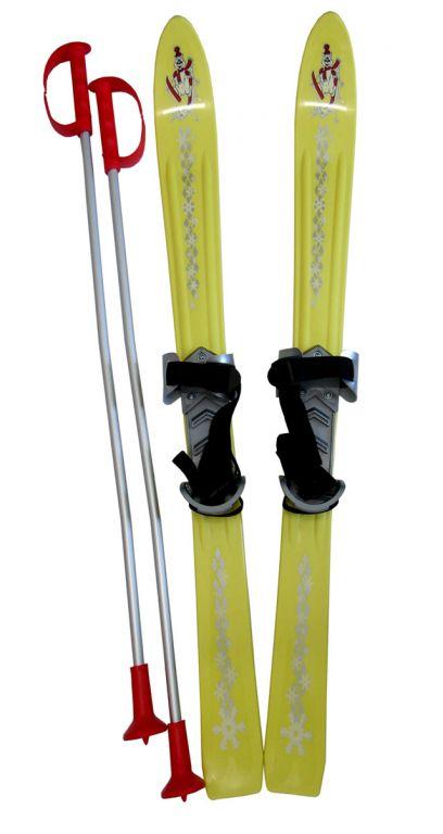 Plastkon Lyže dětské 90cm - žluté