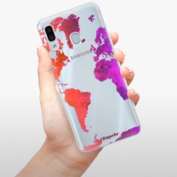Silikonové pouzdro iSaprio - Warm Map - Samsung Galaxy A30