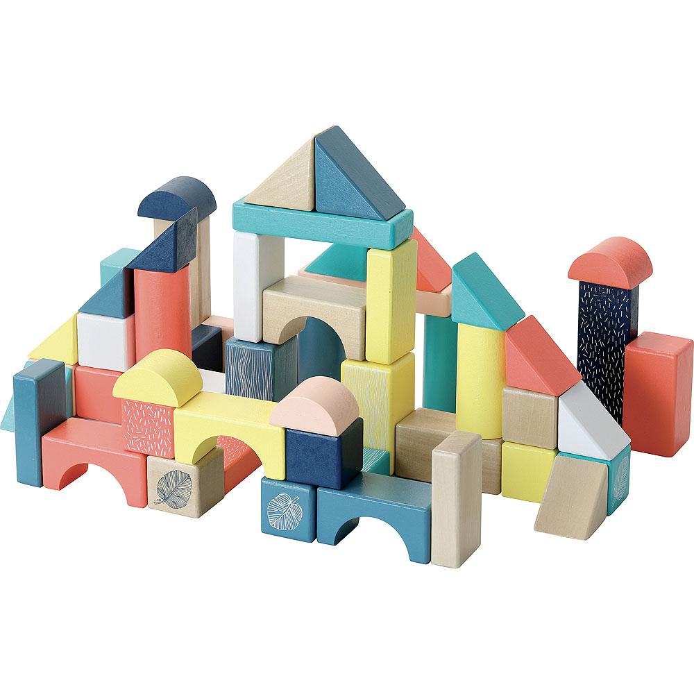 Vilac Dřevěné kostky barevné Canopée 54 ks