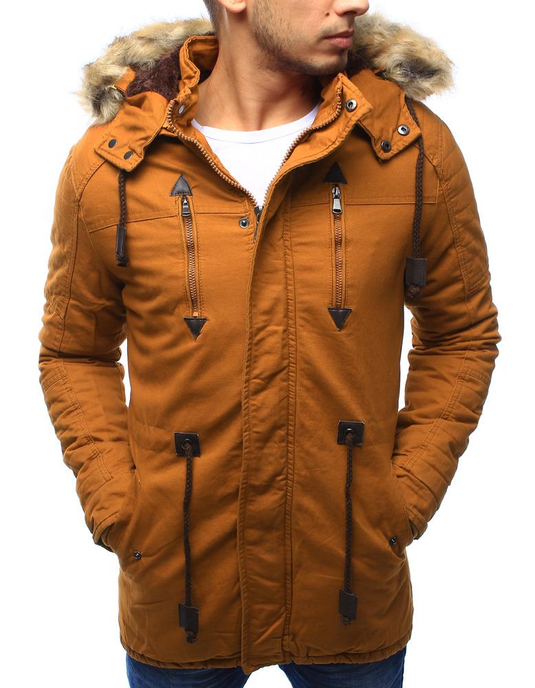 Pánská zimní bunda s kapucí Z-6682 / 6681 (tx1990) - ROSSO - Černá/L