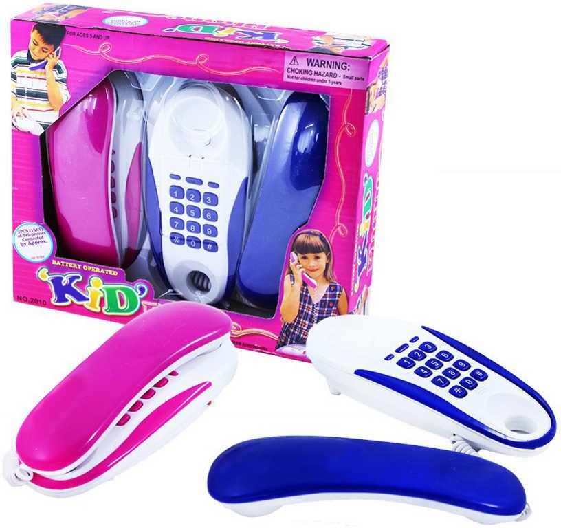 Telefony pokojové dětské na baterie (2:jakost vzhledová vada)