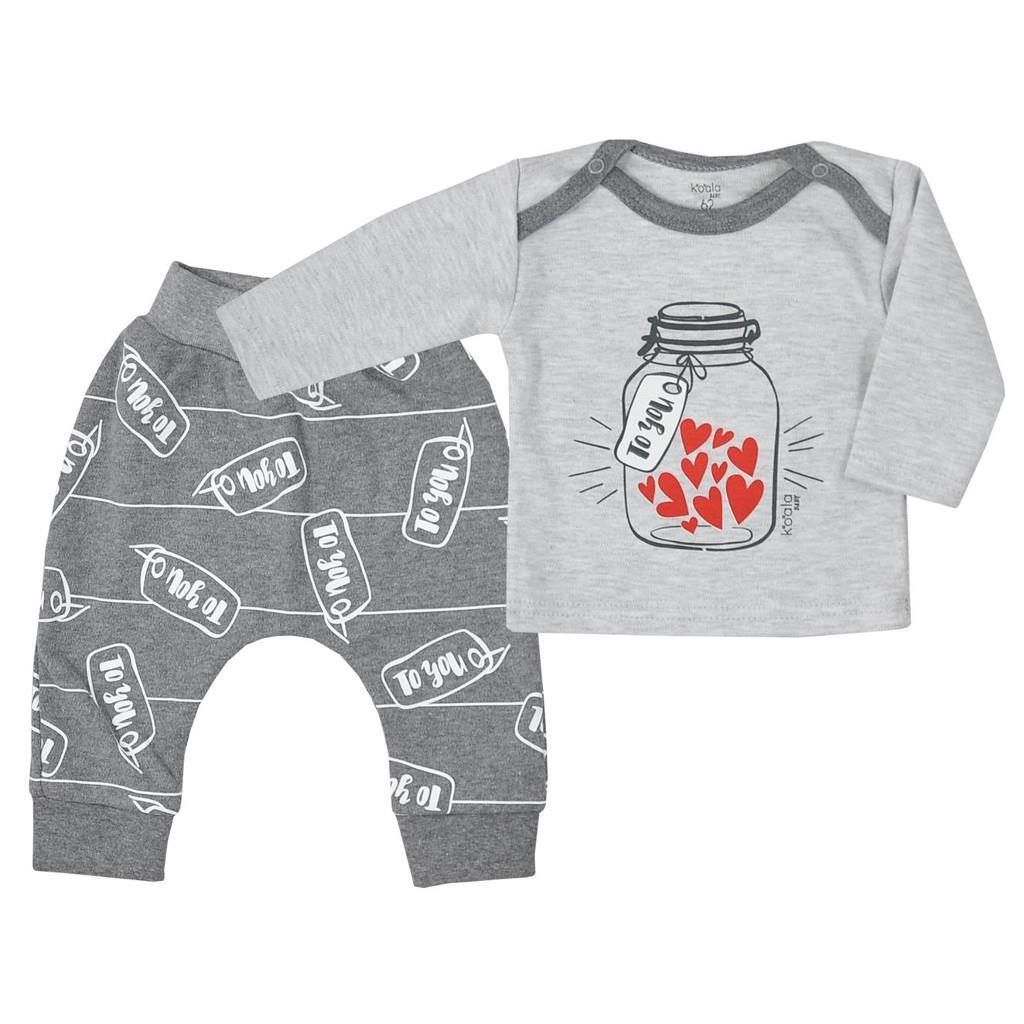 Tepláčky a tričko Koala To You šedé - šedá/86 (12-18m)
