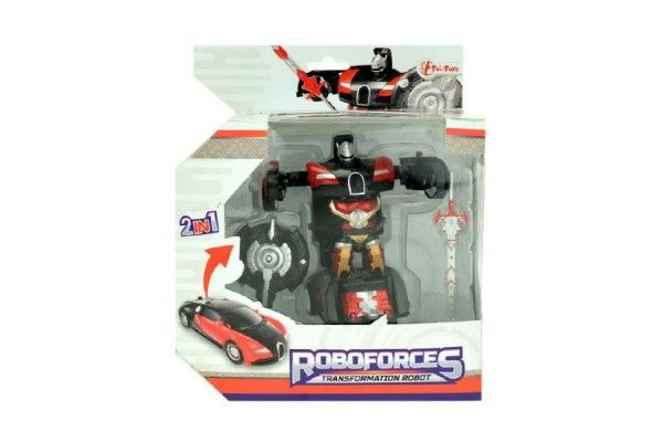 Robot/auto transformer 2v1 plast 10cm v krabičce 17x20x10cm