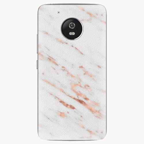 Plastový kryt iSaprio - Rose Gold Marble - Lenovo Moto G5