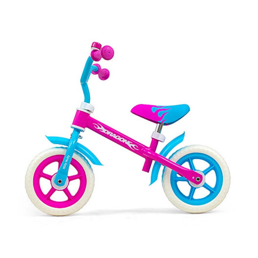 Dětské odrážedlo kolo Milly Mally - Dragon Candy - růžová
