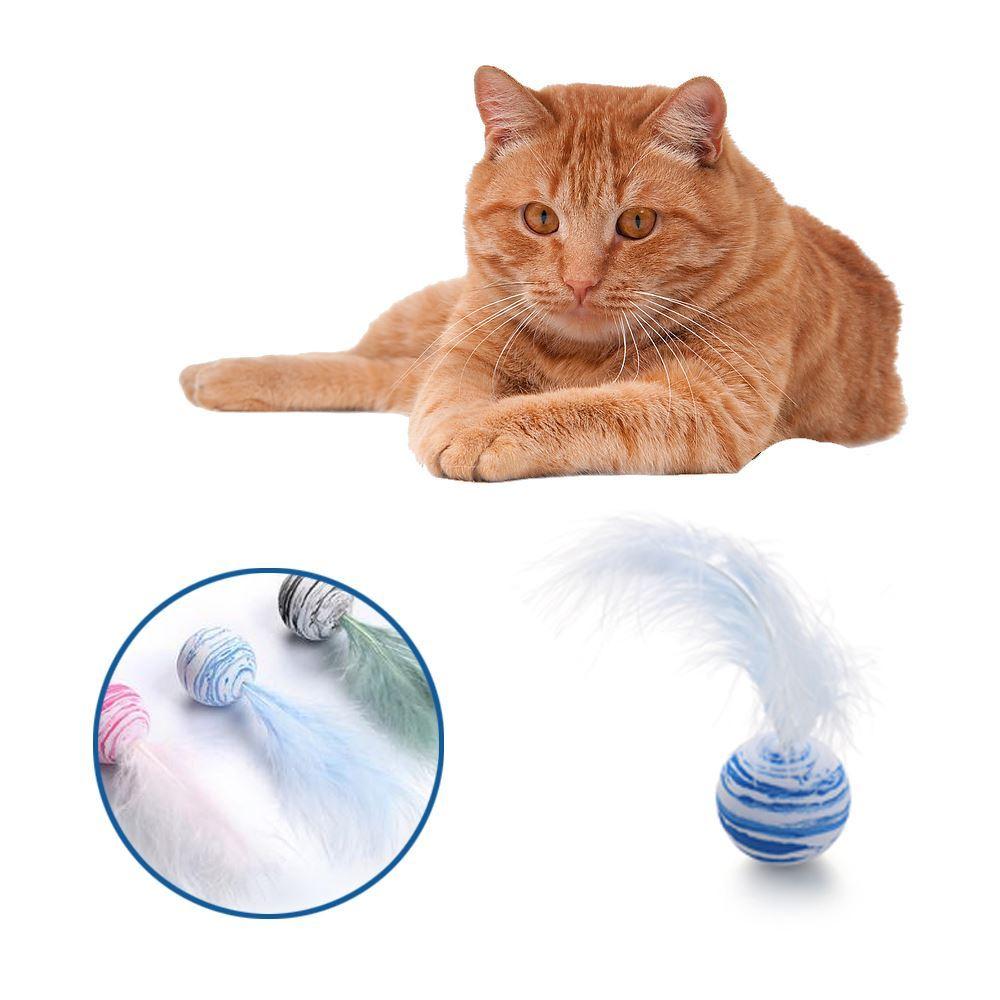 Míček pro kočky - peříčko