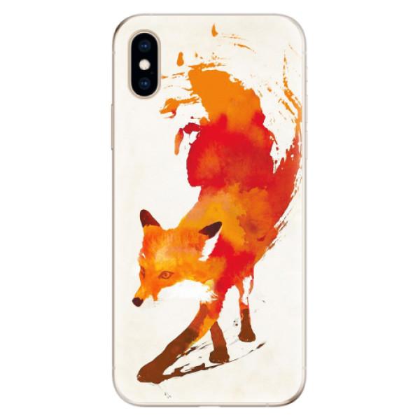 Odolné silikonové pouzdro iSaprio - Fast Fox - iPhone XS