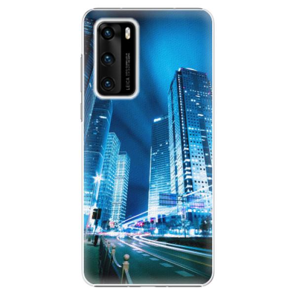 Plastové pouzdro iSaprio - Night City Blue - Huawei P40