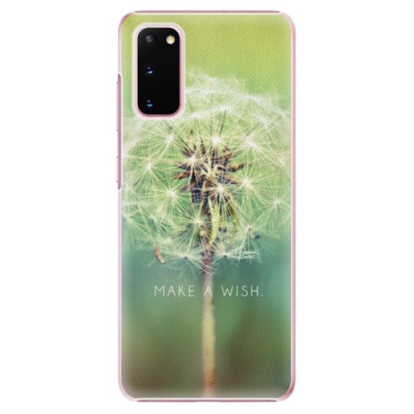 Plastové pouzdro iSaprio - Wish - Samsung Galaxy S20