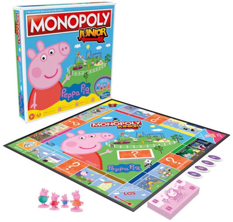 HASBRO Hra MONOPOLY Junior prasátko Peppa Pig *SPOLEČENSKÉ HRY*