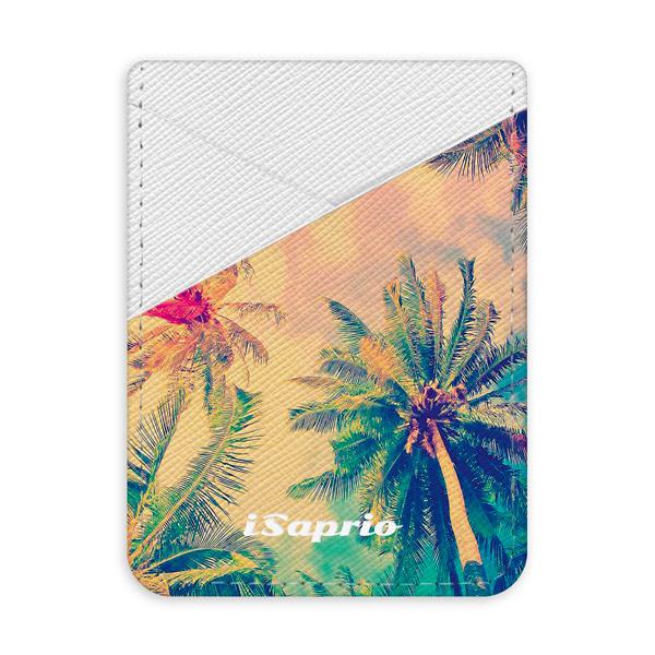 Pouzdro na kreditní karty iSaprio - Palm Beach - světlá nalepovací kapsa